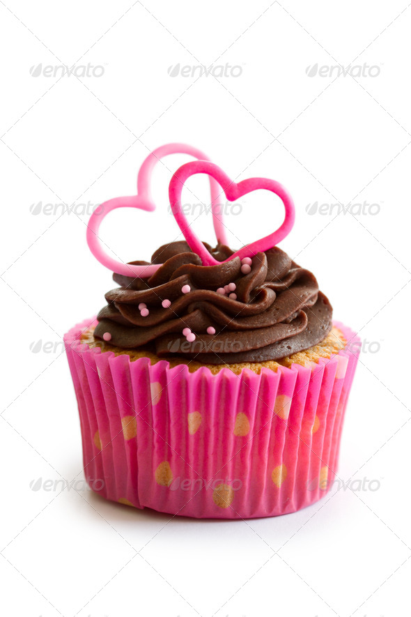 Valentine cupcake - Stock Photo - Images