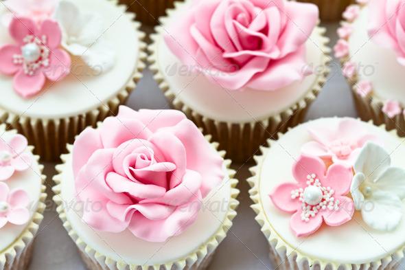 Wedding cupcakes - Stock Photo - Images