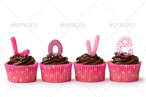 Valentine cupcakes - Stock Photo - Images