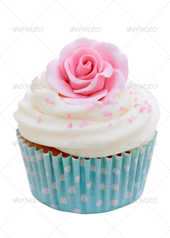 Rose cupcake - Stock Photo - Images
