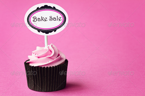 Bake sale cupcake - Stock Photo - Images