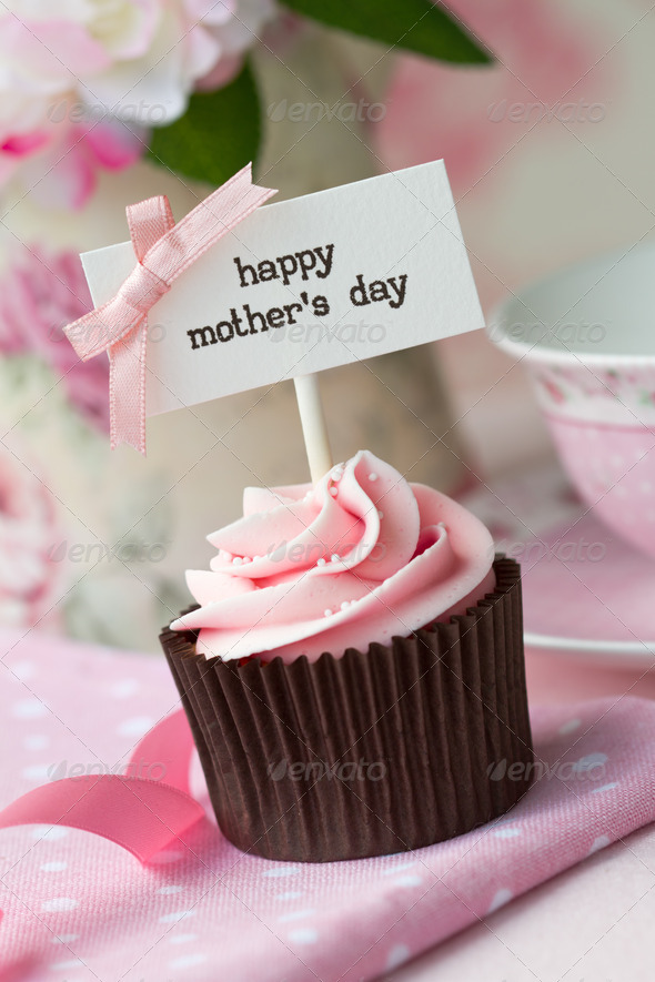 Mother's day cupcake - Stock Photo - Images