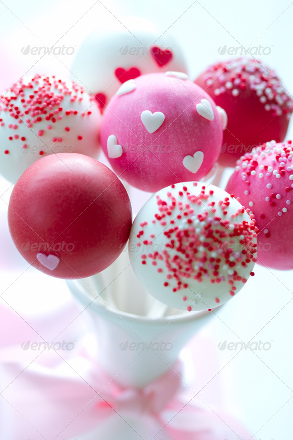 Valentine cake pops - Stock Photo - Images