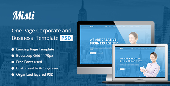 Misti One Page Corporate and Business Template