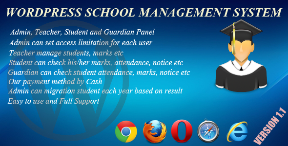 Wordpress School Management System - CodeCanyon Item for Sale