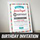 Retro Birthday Invitation 3 - GraphicRiver Item for Sale
