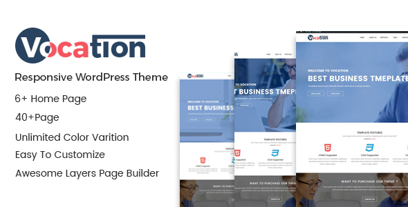 Vocation – Creative Responsive WordPress Theme