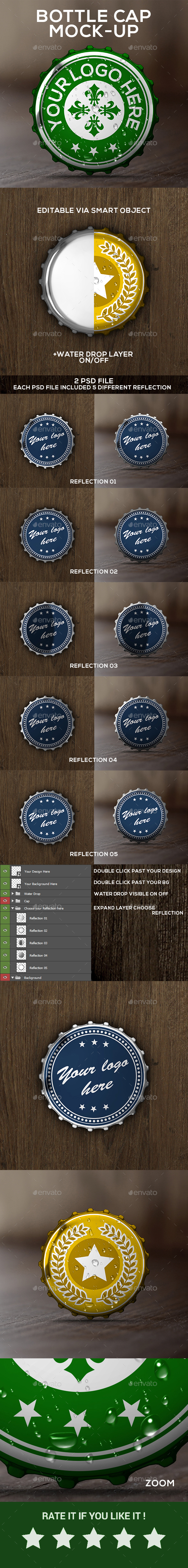 Bottle Cap Mock-up - Food and Drink Packaging