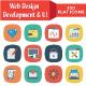 330 Flat Web Design Developemnt & UI Icons - GraphicRiver Item for Sale