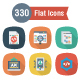 330 Flat Square Shadow Web Design Developemnt & UI Icons