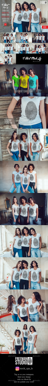 Women's T-Shirts Mock-Up Vol.1 2017