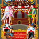 Carnival Circus Theme Park Poster Tent Invite Vector Illustration