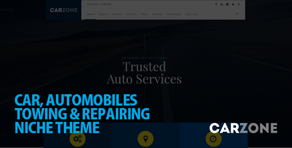 Car Zone - Towing & Repair WordPress Theme - Business Corporate