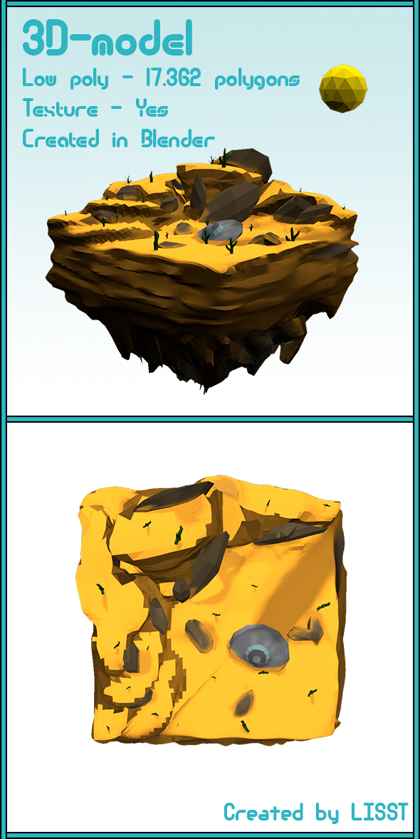 Low Poly landscape - Desert - 3DOcean Item for Sale