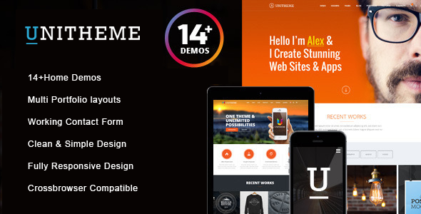 UniTheme - Responsive Multi-Purpose HTML Template - Site Templates