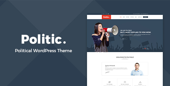Politic – Political WordPress Theme - Political Nonprofit