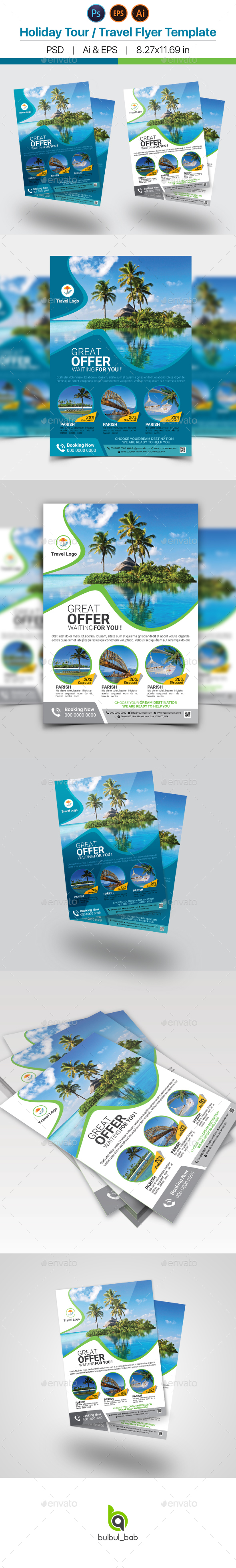 Holiday Travel / Tour Flyer Template - Holidays Events