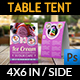 Ice Cream Table Tent Template Vol.5 - GraphicRiver Item for Sale