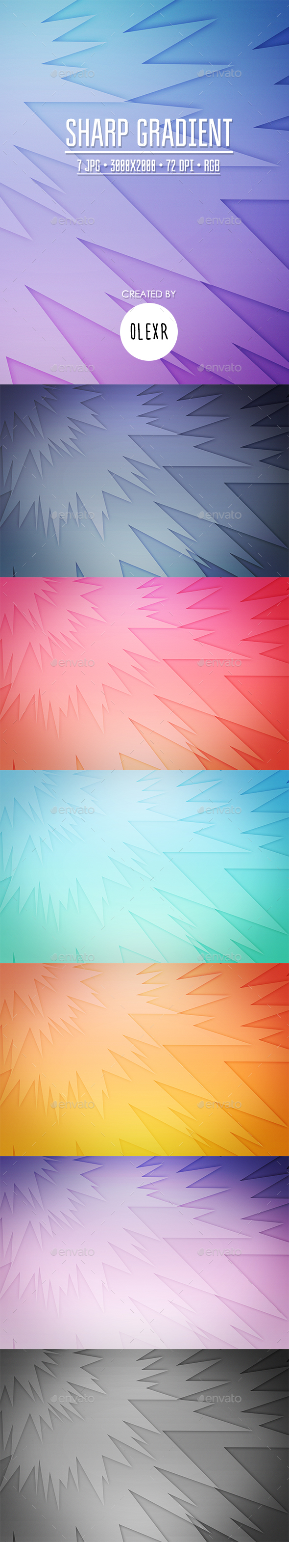 Sharp Gradient Backgrounds - Abstract Backgrounds