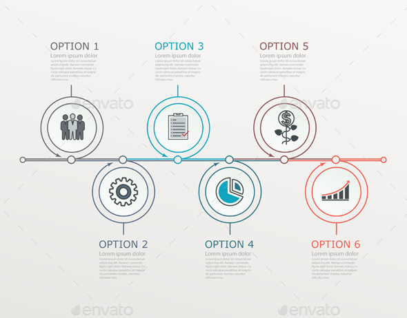 Timeline, Infographics Template with Stepwise Structure. - Infographics