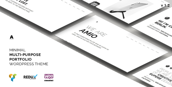 Amio – Minimal Multi-Purpose Portfolio WordPress Theme