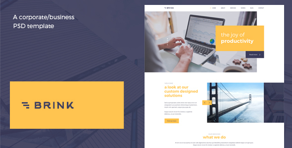 Brink - Creative Business PSD Template - Corporate PSD Templates