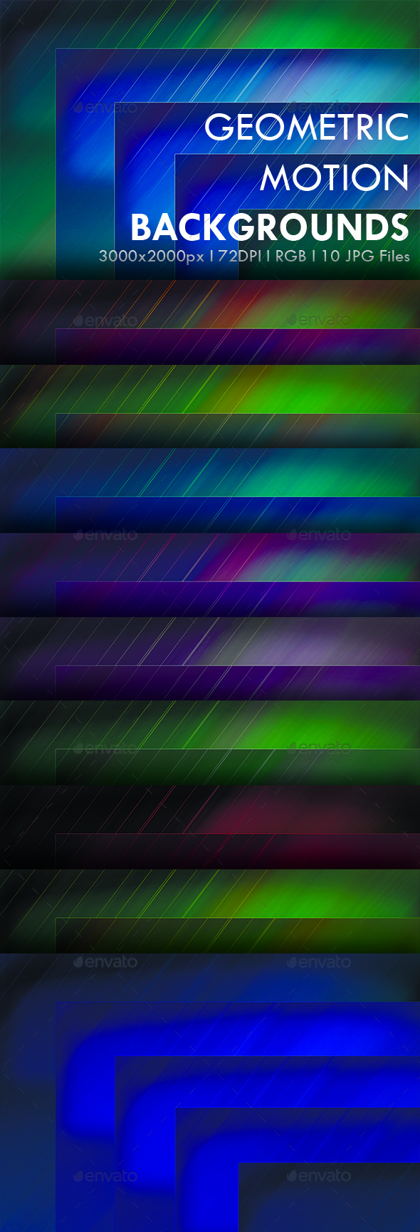 Geometric Motion Backgrouns - Abstract Backgrounds