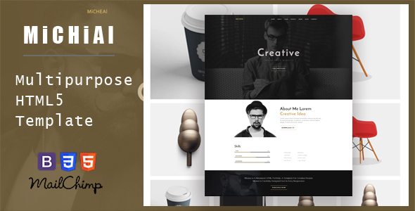 Micheal – Onepage and Multipurpose HTML Template
