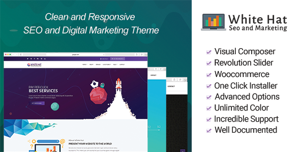 WhiteHat – SEO and Digital Marketing Theme