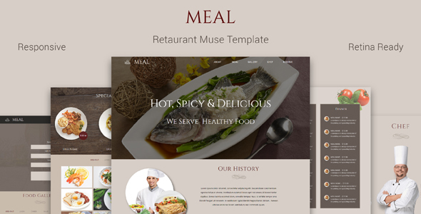 Meal_Restaurant Muse Template