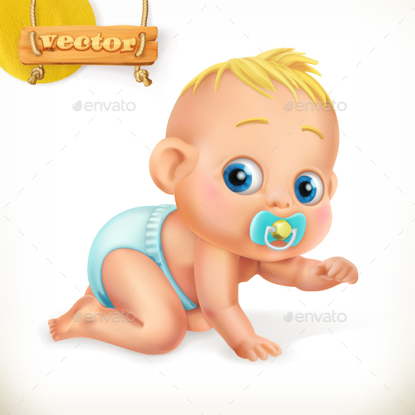 Cute Kid. Baby - Vectors