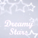 Dreamy White Stars Background - VideoHive Item for Sale