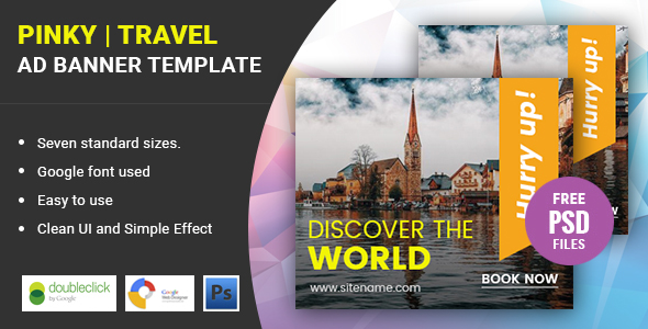 Pinky | Travel HTML 5 Animated Google Banner - CodeCanyon Item for Sale