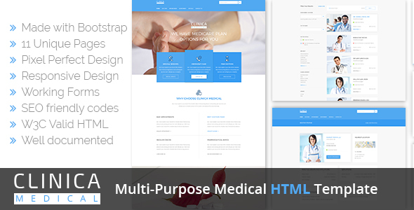 Clinica Multi-Purpose Medical HTML Template