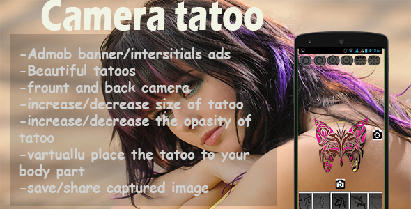 Camera Tattoo - CodeCanyon Item for Sale