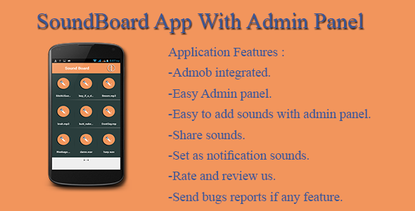 SoundBoard App With Admin Panel - CodeCanyon Item for Sale