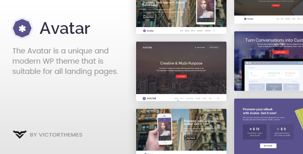 Avatar - One & Multi Page Parallax WordPress Theme - Portfolio Creative
