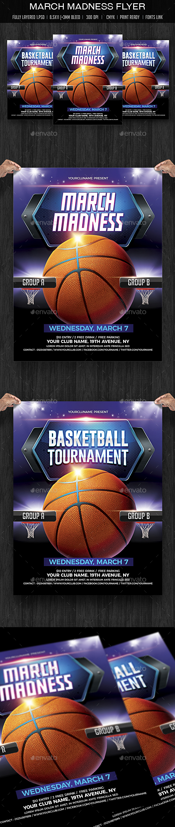 March Madness / Basketball Madness - Sports Events