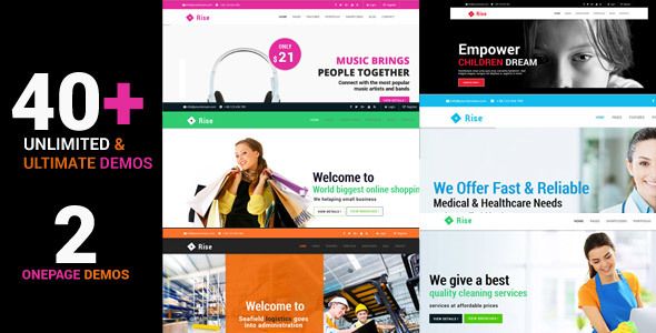 Rise - Responsive Multi-Purpose HTML Template - Corporate Site Templates