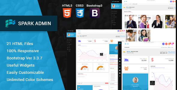 Spark – Responsive Admin Template