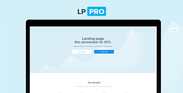 LP Pro - Landing Page Template - Marketing Corporate