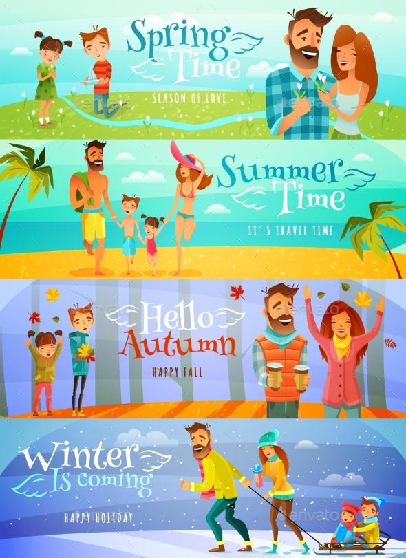 Season Family Banners - Seasons/Holidays Conceptual