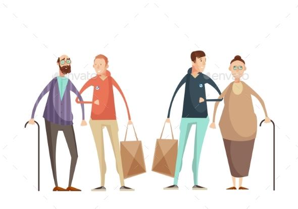 Volunteering Design Concept - People Characters