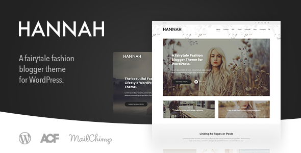 Hannah CD - A Fashion & Lifestyle Blog Theme for WordPress - Personal Blog / Magazine