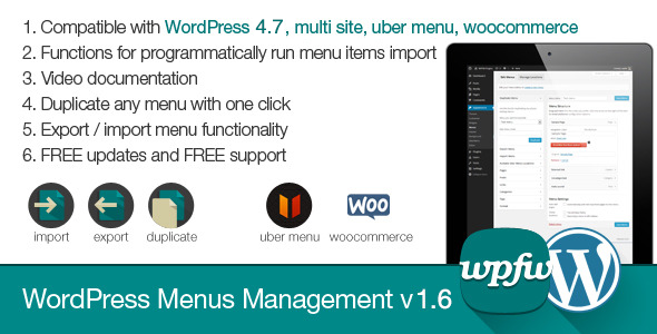 WordPress Menus Management - CodeCanyon Item for Sale