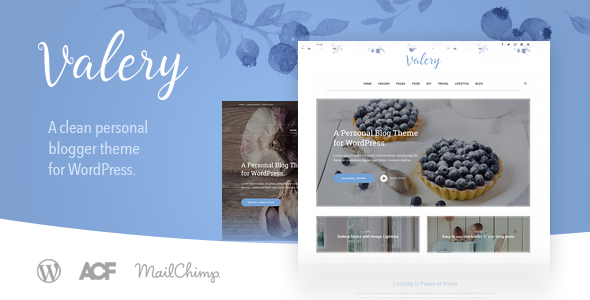 Valery CD – A Personal Blog Theme for WordPress