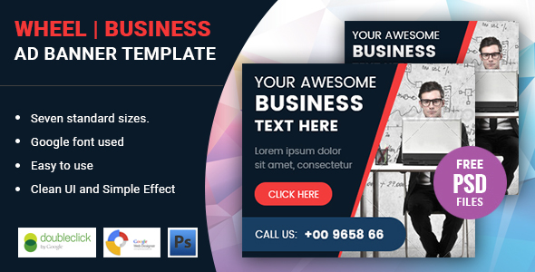 Wheel | Business HTML 5 Animated Google Banner - CodeCanyon Item for Sale