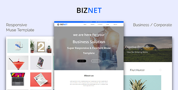 BIZNET_Corporate / Business Responsive Muse Template - Corporate Muse Templates