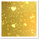 Golden Glitter Hearts Background - VideoHive Item for Sale