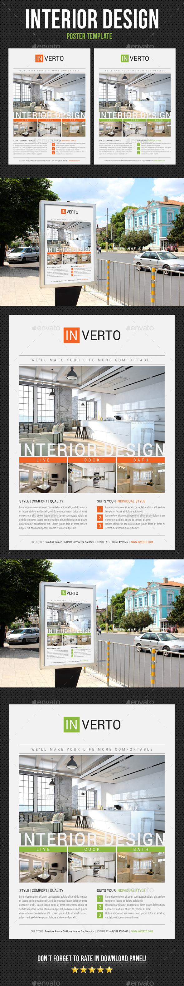 Interior Design Poster Template V12 - Signage Print Templates